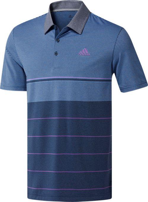 b58ab19e adidas Men's Ultimate365 Heather Gradient Stripe Golf Polo | DICK'S ...