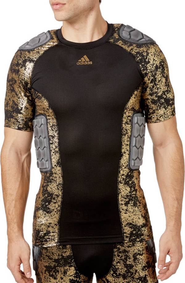 adidas Adult Techfit Gold Foil Padded Football Shirt product image