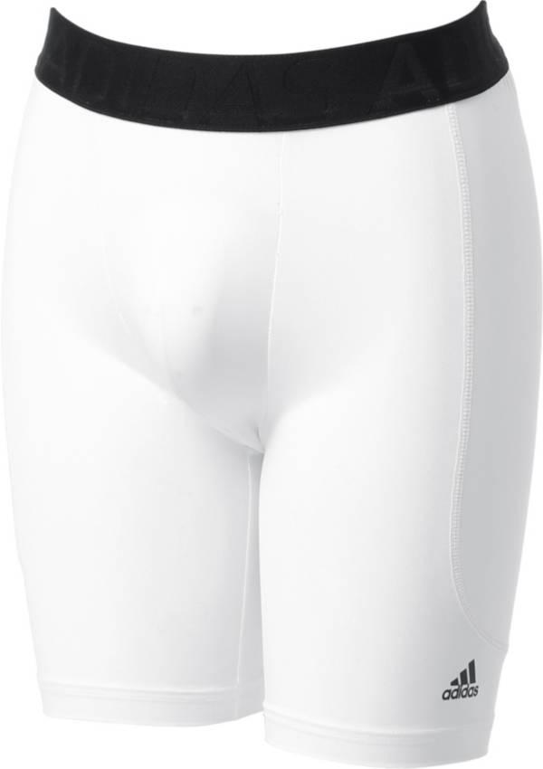 adidas Boys Triple Stripe Sliding Shorts w//Cup