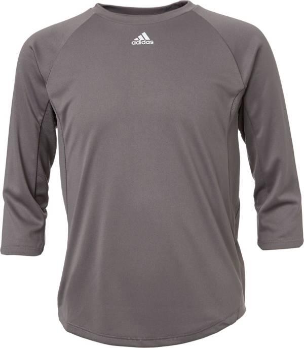 adidas Boys' Triple Stripe ¾ Sleeve Tech Baseball Practice Shirt product image