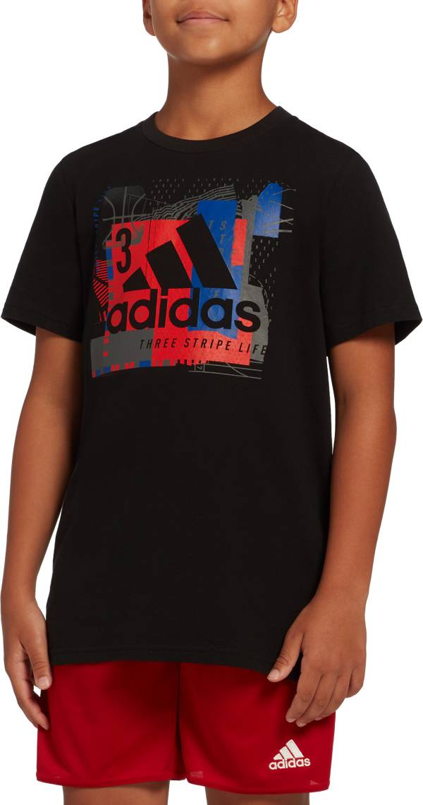 adidas Boys' Collage Mantra Graphic T-Shirt product image