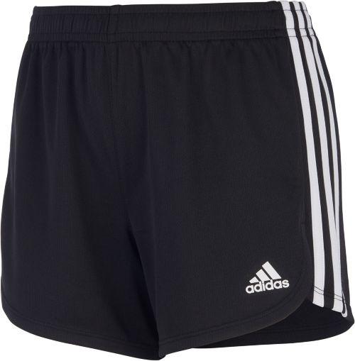 ae152ee46272 adidas Girls  3-Stripes Mesh Shorts
