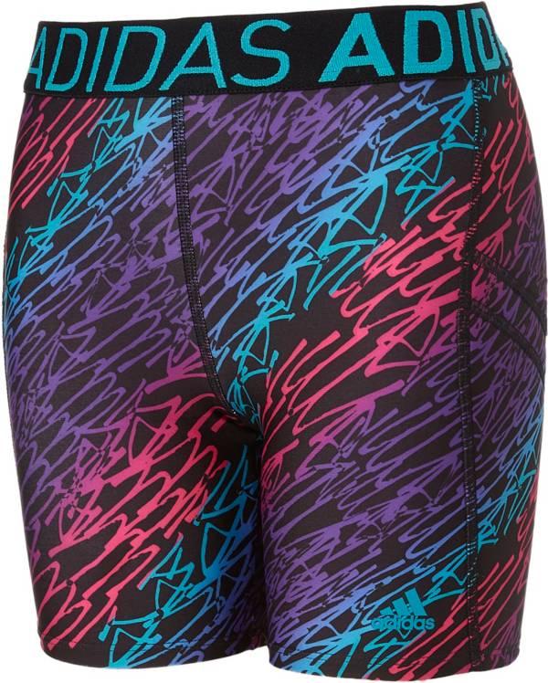 Pure Black, XS adidas Girls Destiny Printed Softball Sliding Shorts,