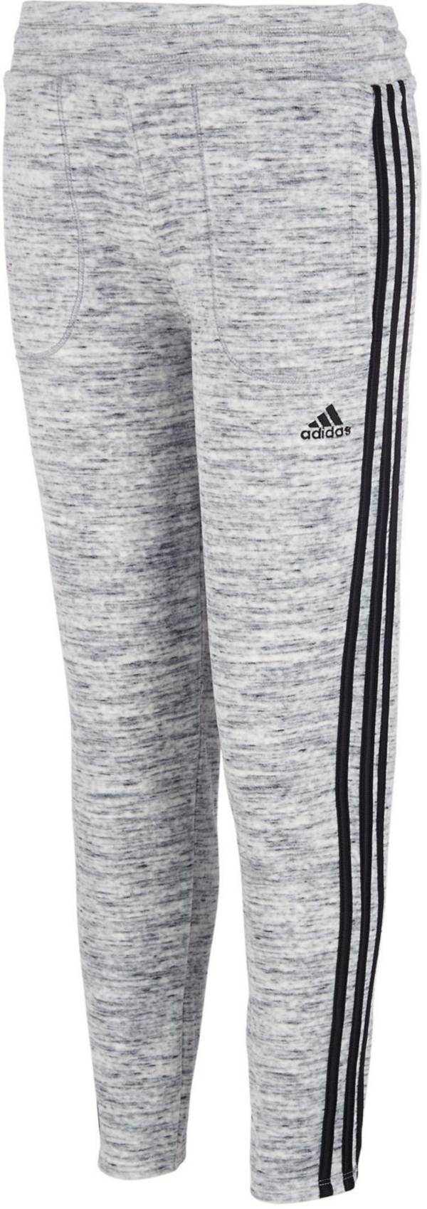 adidas Girls' Velour Heathered Tapered Pants product image