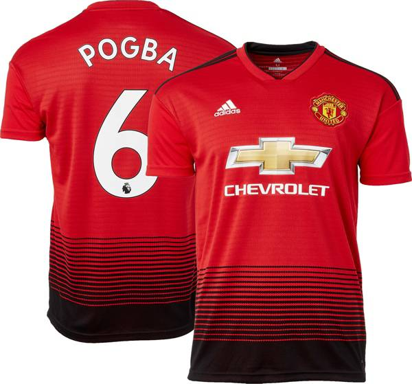 adidas Men's Manchester United Paul Pogba #6 2018 Stadium Home Replica Jersey product image