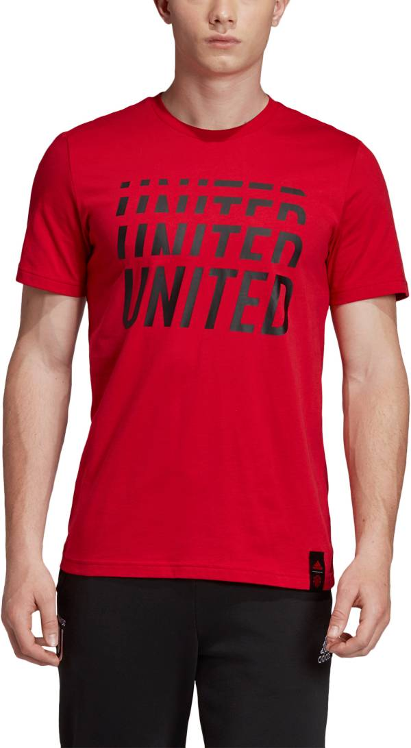 adidas Men's Manchester United DNA Graphic Red T-Shirt product image