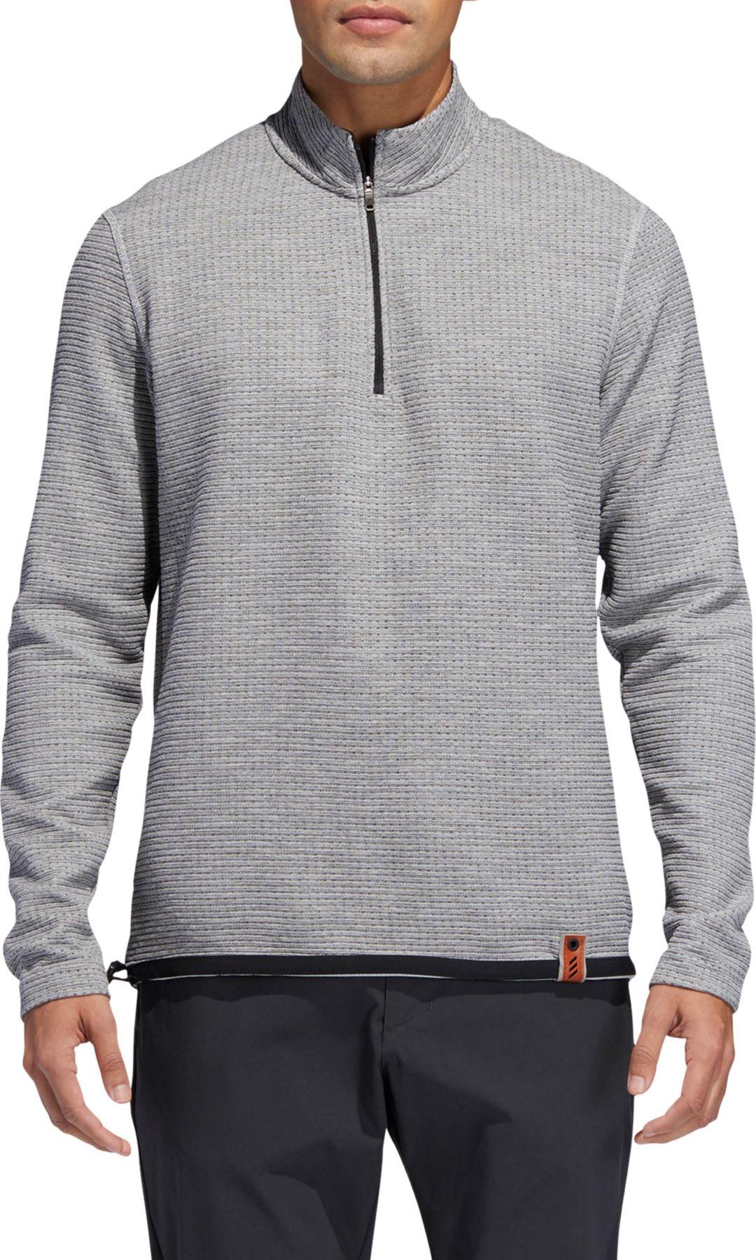 26aa7ce8e4 adidas Men's Adicross Textured Fleece Golf ¼ Zip
