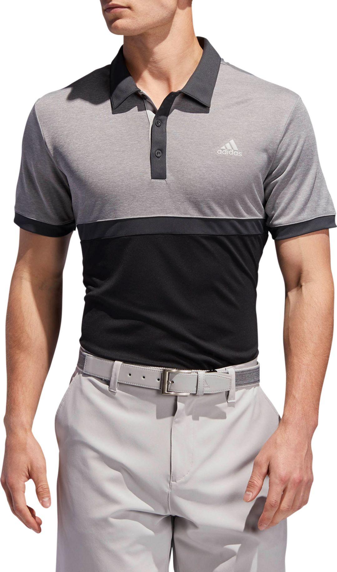 5762d2bca68a5 adidas Men's Drive Heather Colorblock Golf Polo