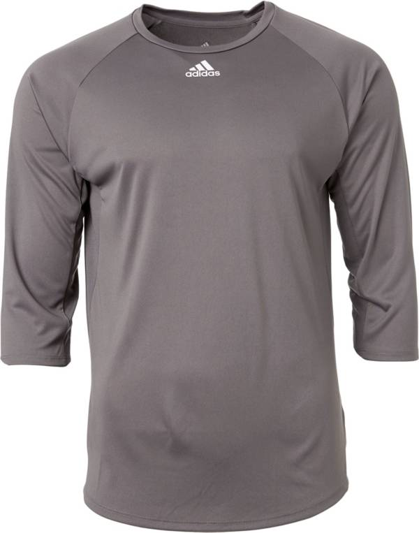 adidas Men's Triple Stripe ¾ Sleeve Tech Baseball Practice Shirt product image