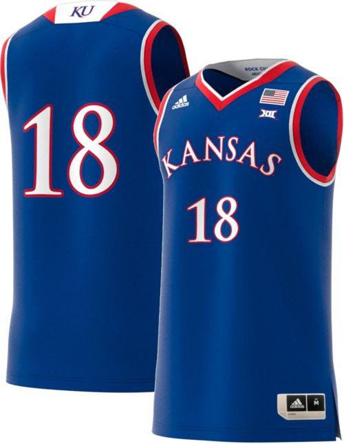 1366b0502b1 adidas Men s Kansas Jayhawks  18 Blue Replica Basketball Jersey.  noImageFound. Previous
