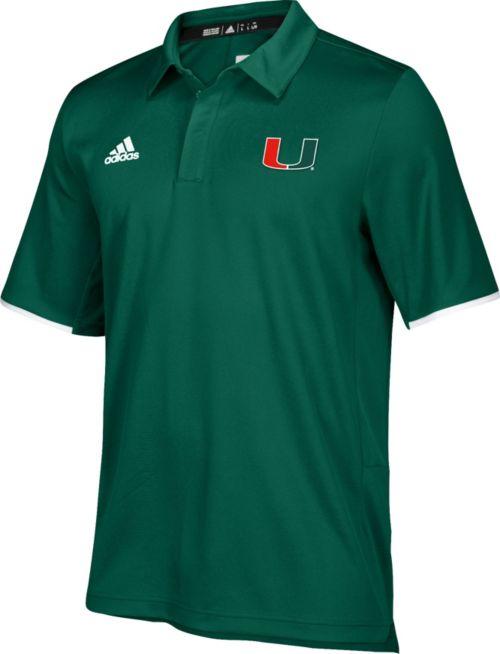 87bd5226ea9 adidas Men s Miami Hurricanes Green Sideline Iconic Polo. noImageFound.  Previous