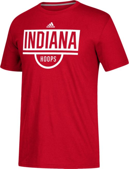 c5785a7dd0b adidas Men's Indiana Hoosiers Crimson Practice Basketball T-Shirt ...