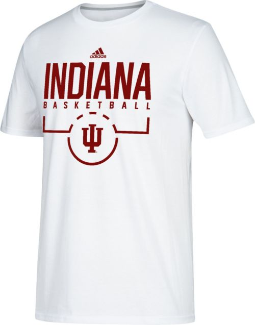a7b685824 adidas Men s Indiana Hoosiers Practice Basketball White T-Shirt ...