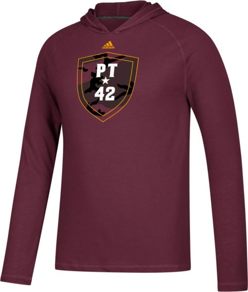 3adb70a3 adidas Men's Arizona State Sun Devils Maroon 'PT42' Ultimate Long Sleeve  Hooded T-Shirt | DICK'S Sporting Goods