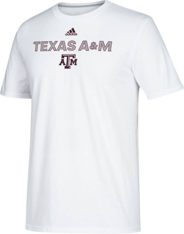 adidas Men's Texas A&M Aggies Go-To Performance White T-Shirt product image