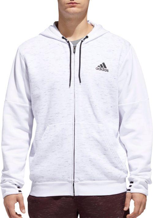 adidas Men s Post Game Fleece Full Zip Hoodie  82a609b36