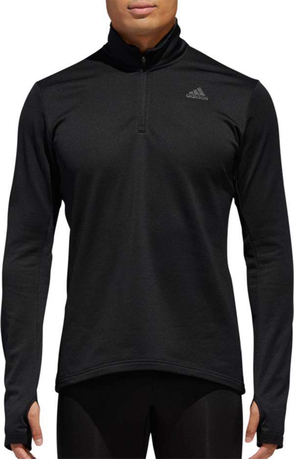 adidas Mens Response Long sleeve Zip Tee
