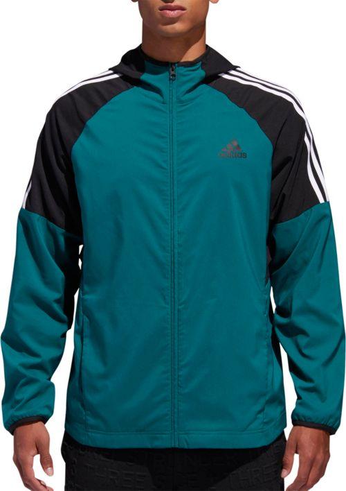 b080575385fe adidas Men s Sport Id 3-Stripe Windbreaker Jacket. noImageFound. Previous
