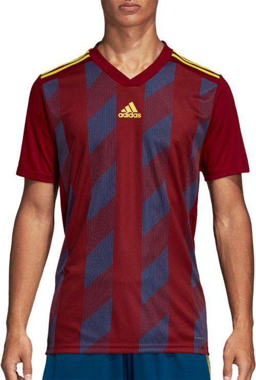 9fced4c28 adidas Men s Striped 19 Soccer Jersey T-Shirt. noImageFound. Previous