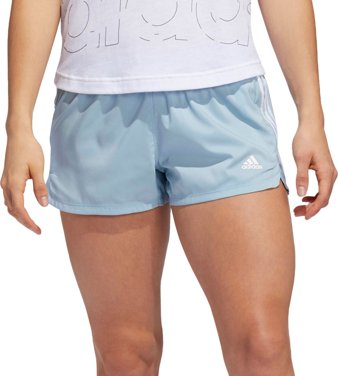 266df660 adidas Women's Pacer 3-Stripes Woven Shorts