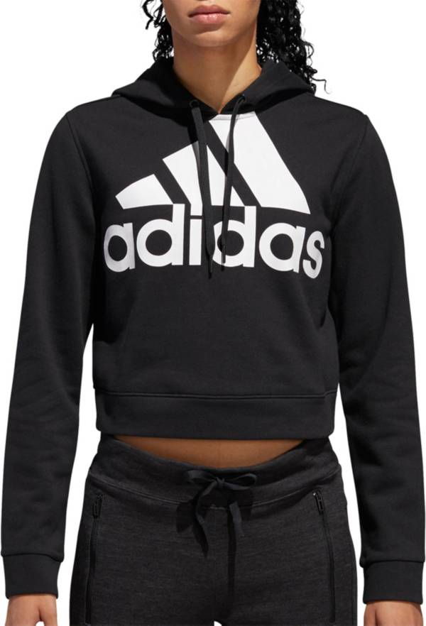 adidas Women's Cropped French Terry Hoodie product image