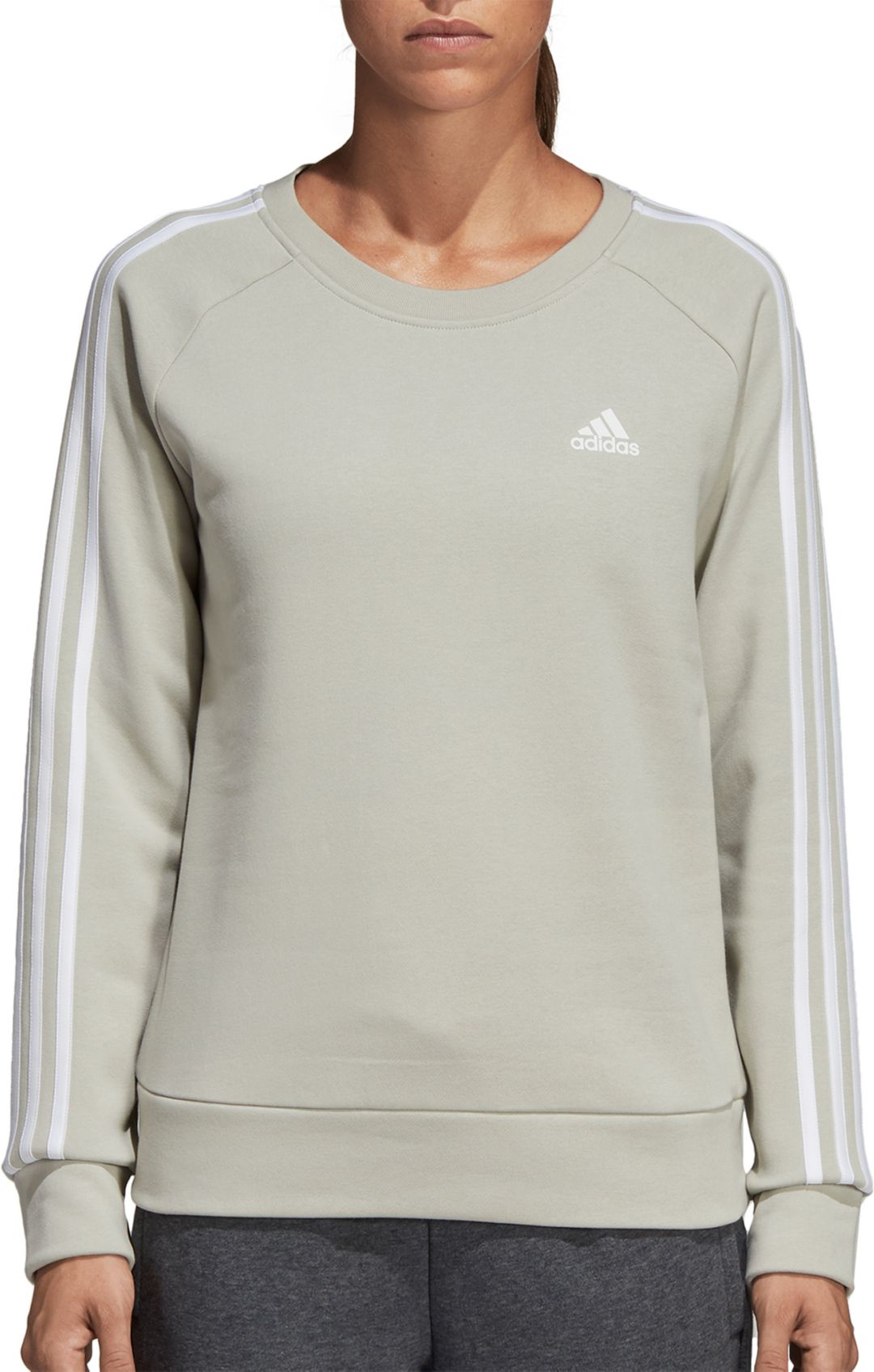 6843ebdb2 adidas Women's Essentials 3-Stripes Crewneck Sweatshirt. noImageFound.  Previous