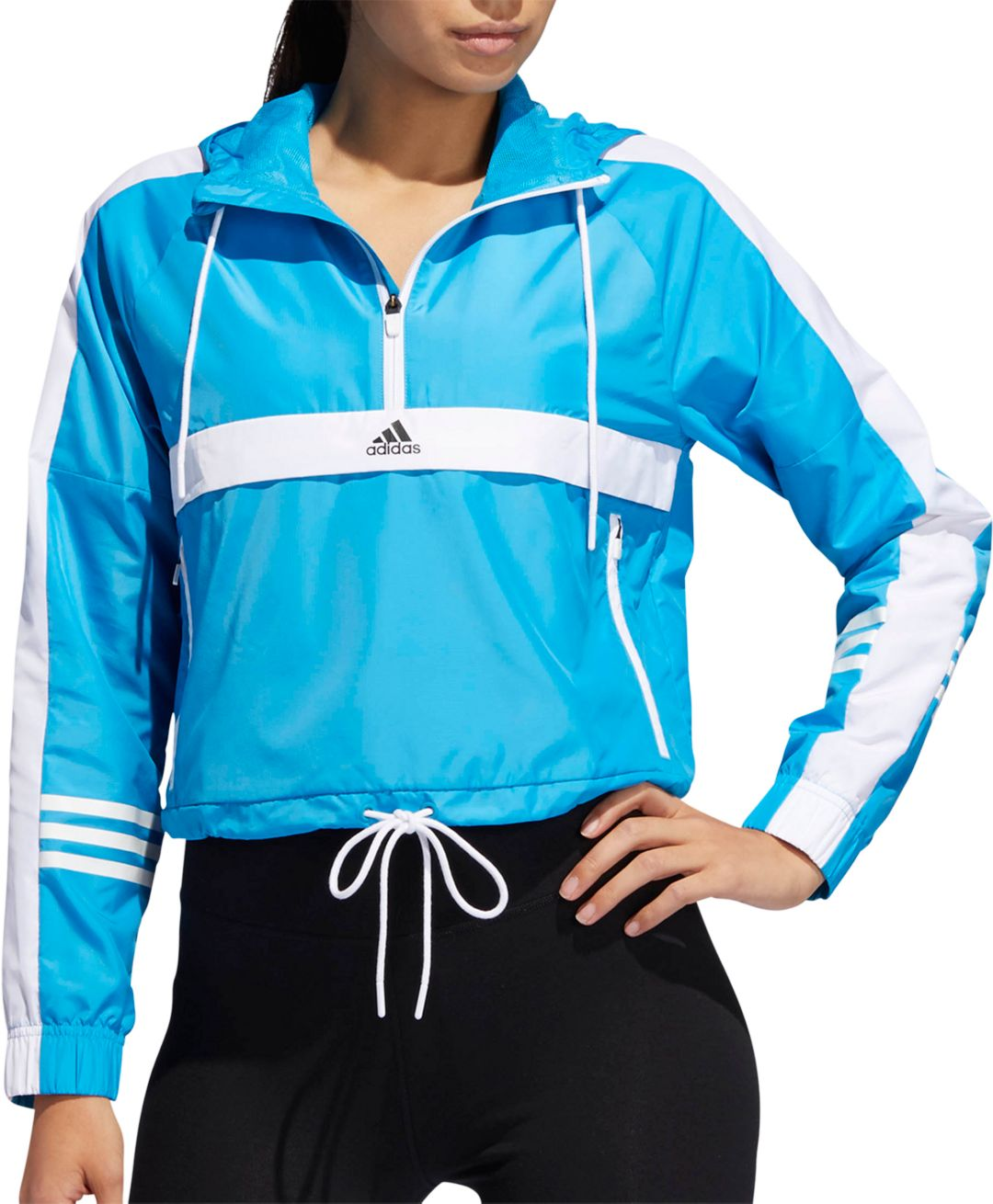 ea51959fc53bb adidas Women's ID Wind Half Zip Jacket | DICK'S Sporting Goods