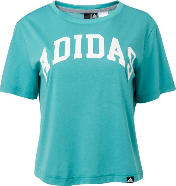 adidas Women's Essentials Collegiate Graphic Cropped T-Shirt product image