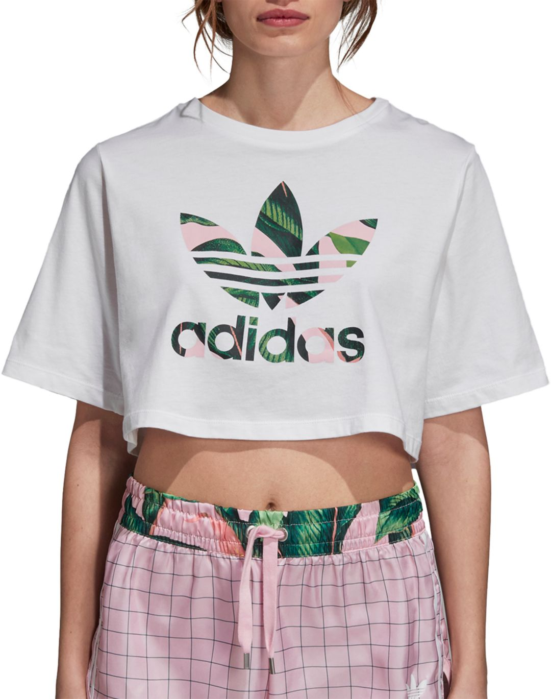 adidas Cropped T Shirt Grün | adidas Deutschland