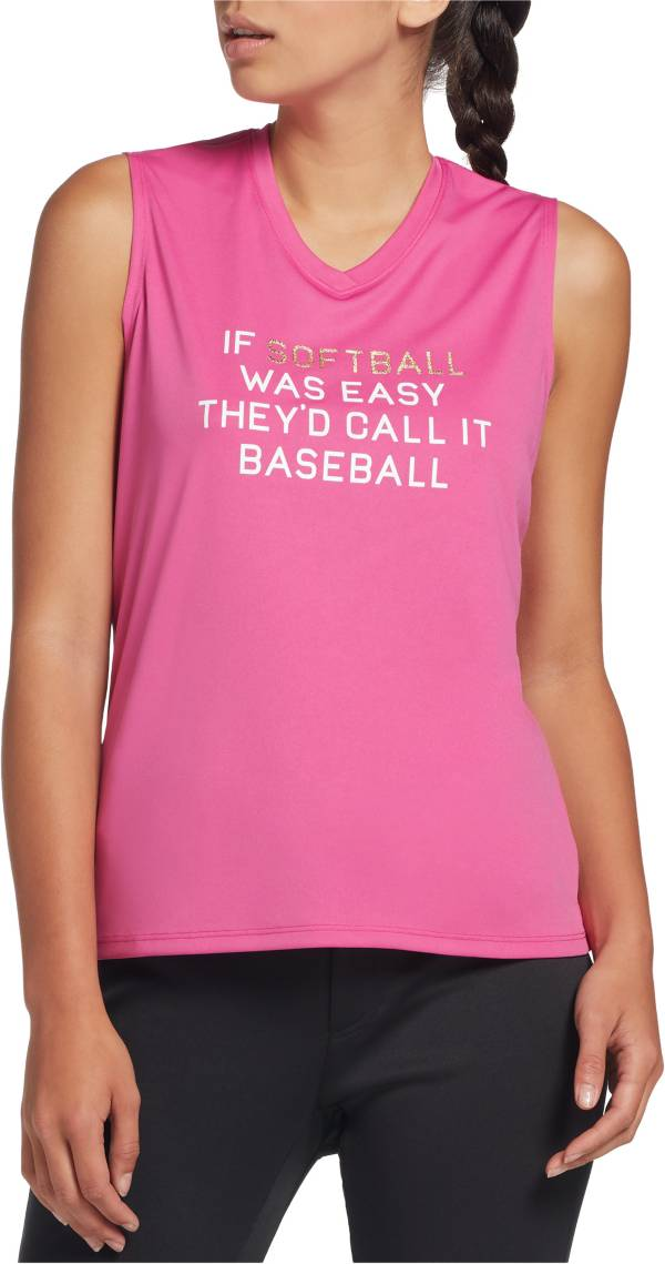 adidas Women's Sleeveless Softball Graphic T-Shirt product image