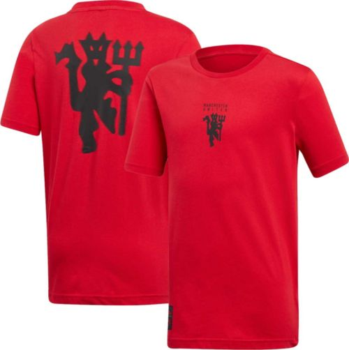 73ad910dc3e adidas Youth Manchester United Devil Red T-Shirt