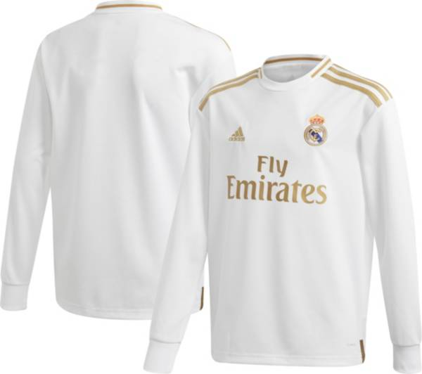 adidas Youth Real Madrid '19 Stadium Home Replica Long Sleeve Jersey product image