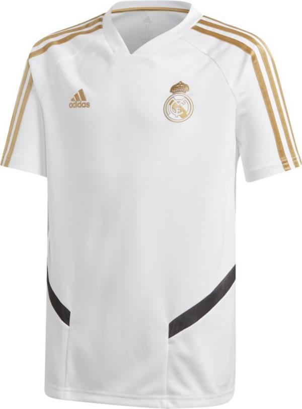adidas Youth Real Madrid '19 White Training Jersey product image