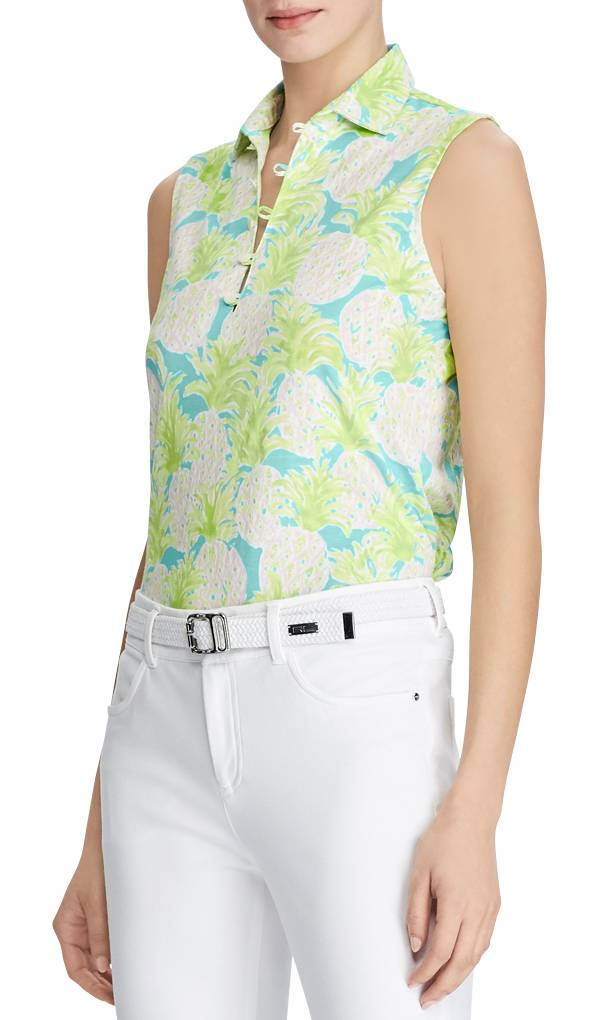 Polo Golf Women's Sleeveless Print Golf Polo product image