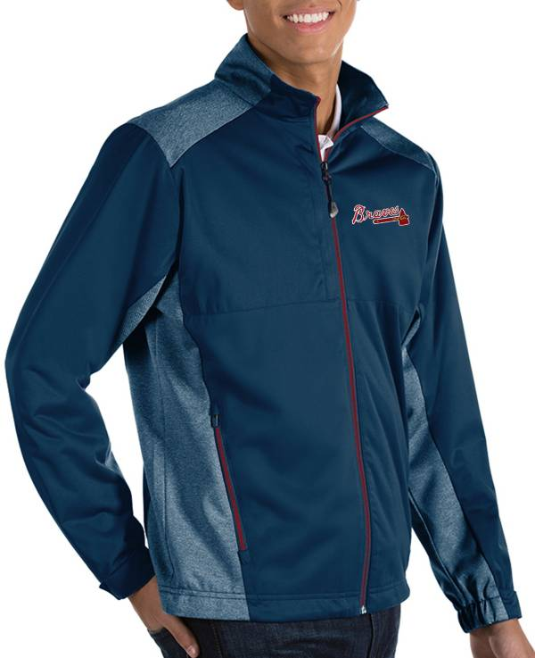 Antigua Men's Atlanta Braves Revolve Navy Full-Zip Jacket product image
