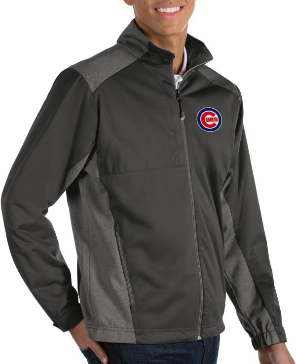 Antigua Men's Chicago Cubs Revolve Grey Full-Zip Jacket product image