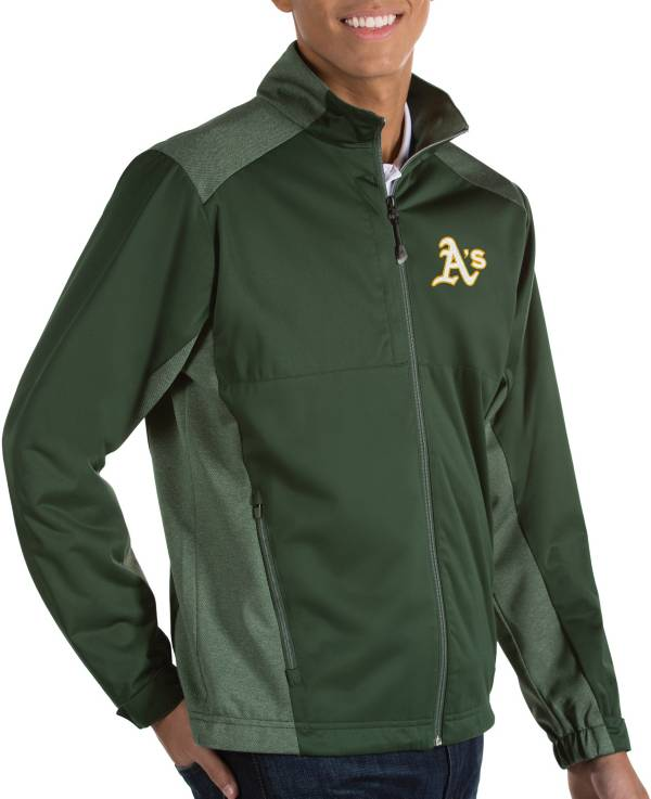 Antigua Men's Oakland Athletics Revolve Full-Zip Jacket product image