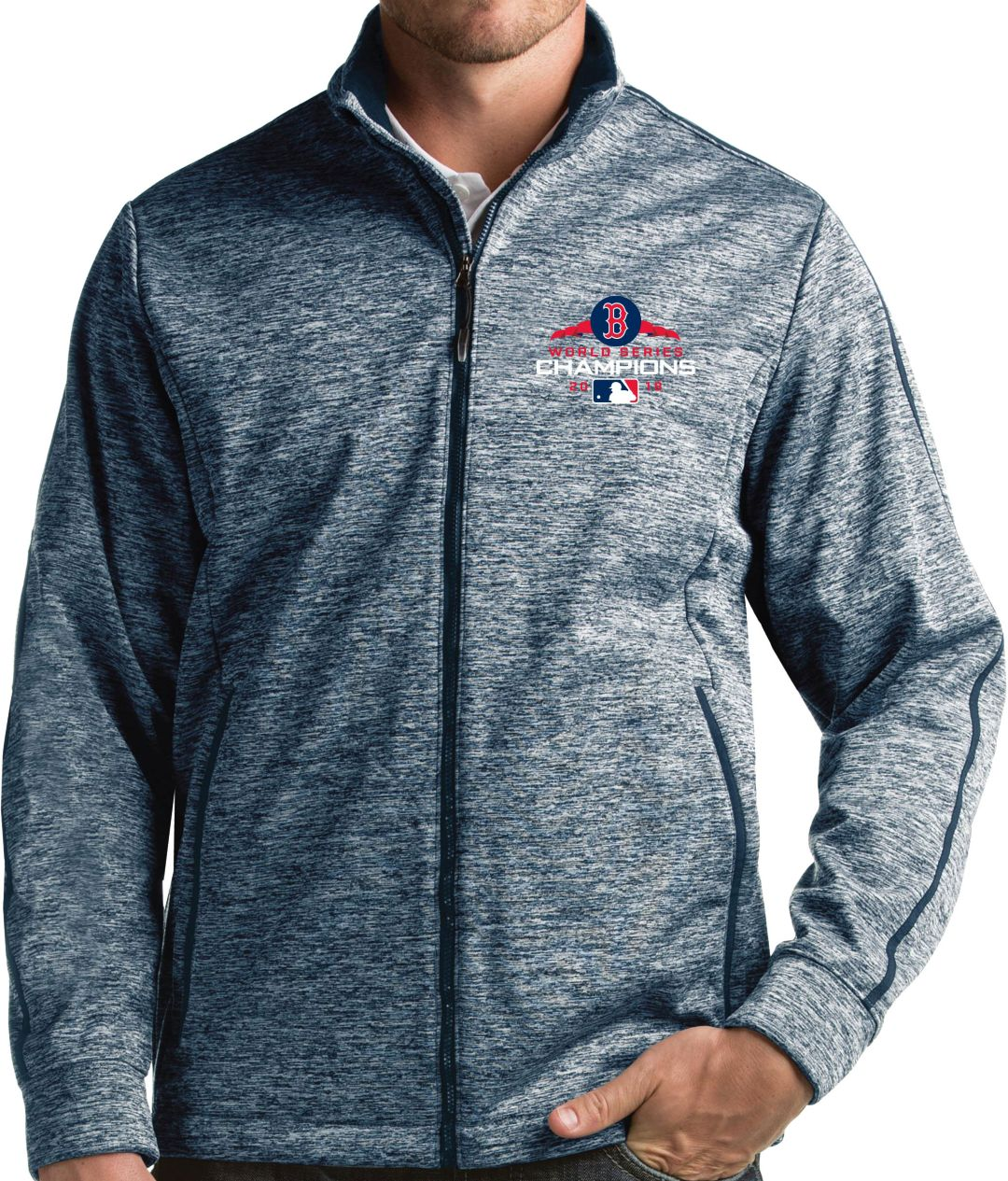 new product a71f8 b3d89 Antigua Men s 2018 World Series Champions Boston Red Sox Navy Golf Jacket.  noImageFound. 1