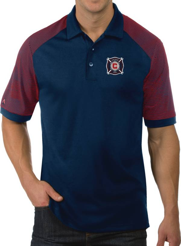 Antigua Men's Chicago Fire Engage Navy Polo product image
