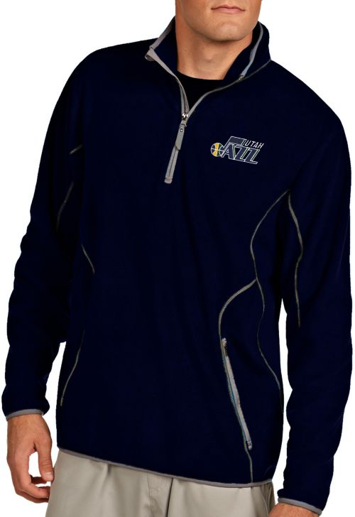 e371373c36b1f Antigua Men s Utah Jazz Quarter-Zip Navy Ice Pullover. noImageFound. 1