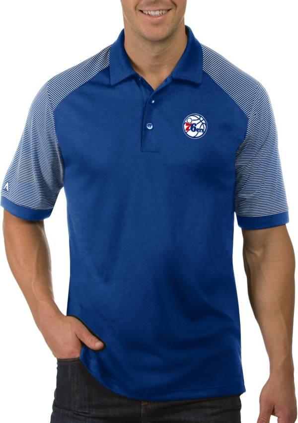 Antigua Men's Philadelphia 76ers Engage Polo product image