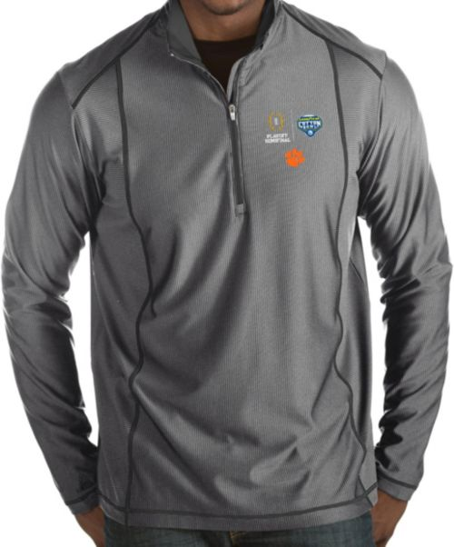 fbca3593edd7 Antigua Men s 2018 Goodyear Cotton Bowl Bound Clemson Tigers Grey ...