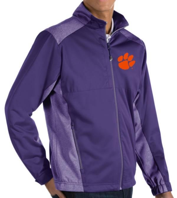 Antigua Men's Clemson Tigers Purple Revolve Full-Zip Jacket product image