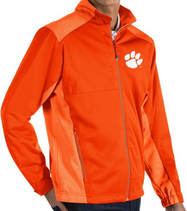 Antigua Men's Clemson Tigers Orange Revolve Full-Zip Jacket product image