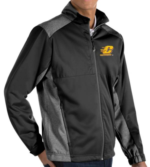 Antigua Men's Central Michigan Chippewas Revolve Full-Zip Black Jacket product image