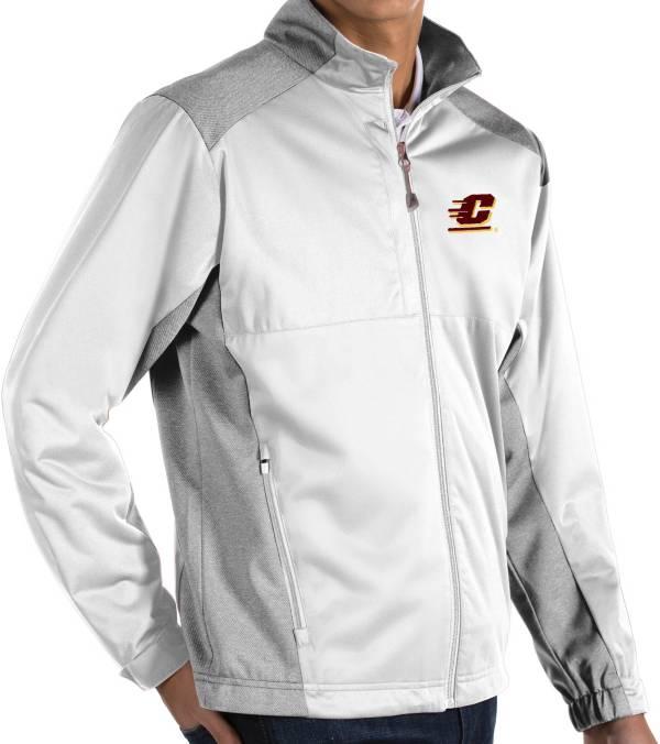 Antigua Men's Central Michigan Chippewas White Revolve Full-Zip Jacket product image
