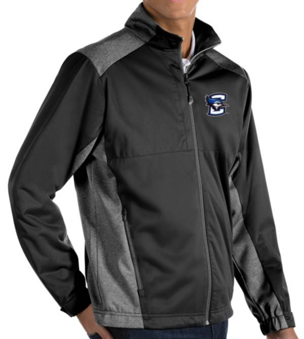 Antigua Men's Creighton Bluejays Revolve Full-Zip Black Jacket product image