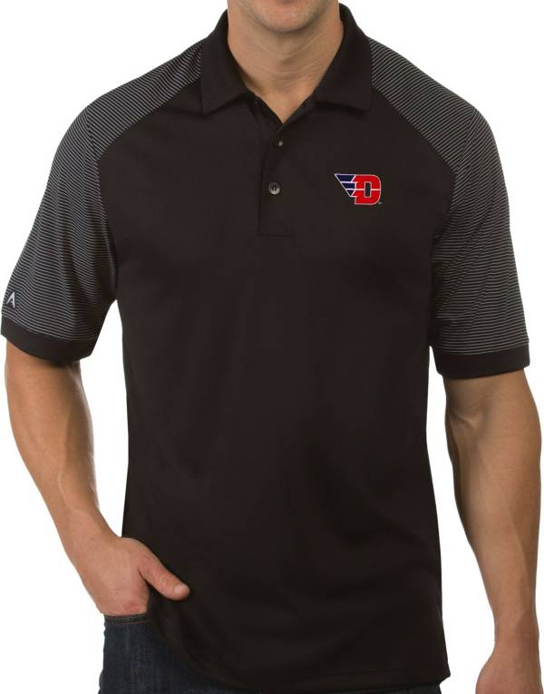 Antigua Men's Dayton Flyers Engage Performance Black Polo product image