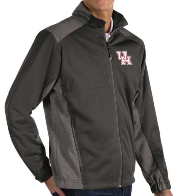 Antigua Men's Houston Cougars Grey Revolve Full-Zip Jacket product image