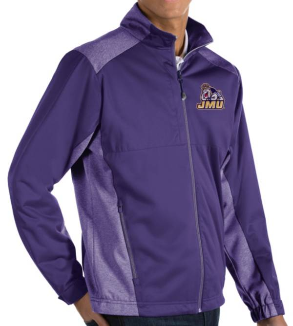Antigua Men's James Madison Dukes Purple Revolve Full-Zip Jacket product image